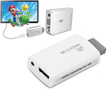 1080P 720P Upscaling Adapter For Wii 2 To HDMI Converter Output HDTV 3.5mm Audio Convertor Free Shipping #S0154