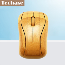 Techase MG93 Mouse Bamboo Mause 2.4GHz Wireless Mini USB Gaming Mouse For Computer Maus souris gamer Mice Game Wooden Mouses(China)
