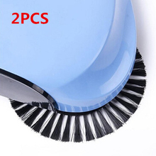 2pcs/bag Sweeping Machine Brush Black Push Type Broom Sweeper Dustpan Floor Cleaner Brush Home use Accessories MA895569(China)