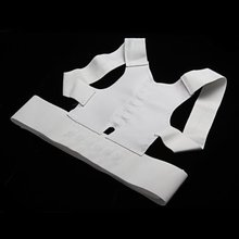 Best Sale Heathy Adjustable Magnetic Posture Support Corrector Back Pain Belt Brace Shoulder(China)