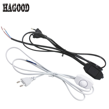 Max 60W Dimming Wire Plug EU/US Plug 1.8m Length Blcak/White Wire Line Cable with Rotatable Dimmer Button Power Cord for Lamps(China)