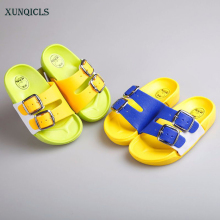 Buy XUNQICLS 2018 Summer Children Shoes Boys Girls Slippers Kids Cartoon Slipper Baby Beach Slippers Home Kids Shoes for $6.87 in AliExpress store
