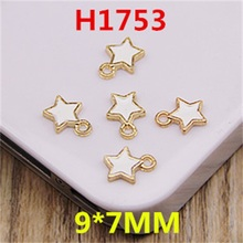 5PCS 9MM Small Star Jewelry Metal Bracelet Pendant DIY Jewelry Accessories  Connector Hook Deduction Supplies Wholesale AS-84