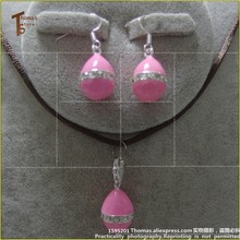 PT2454 Earbob Easter Pink Eggs Romantic Charm Thomas Style Good Jewelry