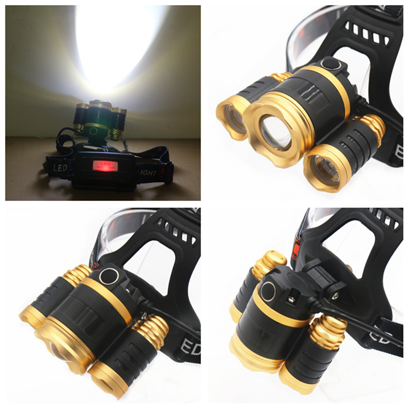 LFL-4 T6 LED TorchAluminum alloy Zoomable Tactical Defense Flashlight up to 15000 lumens
