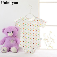 Unini-yun 2017 New Baby Clothes Boy Girl Short Sleeve Cotton O-Neck 0-24M Novel Newborn Roupas de bebe Baby Rompers Baby Wear