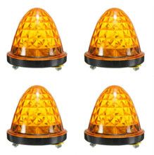 2X LED Yellow Amber Side Marker Light Clearance Lamp 12V-24V Car Truck Trailer UTE Wholesale Free shipping air registered mail