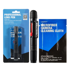 Professional VSGO Brand Camera Lens Cleaning Pen Anti-static Cleaning Brush No Dropping And Microfiber Cleaning Cloth Included.(China)