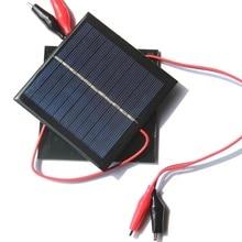 BUHESHUI Solar Panel+Clip Epoxy Polycrystalline Solar Cell Modul Charger 3.7V Battery System Toy Light 95*95MM 5Pcs/lot