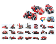 23 In 1 278Pcs Architect Building Block Vehicles Block Eductional Toy Decool Car Block City DIY Bricks Compatible With Lego