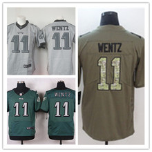 Mens 11 Carson Wentz Jersey 2017 Rush Salute to Service High Quality Football Jerseys(China)
