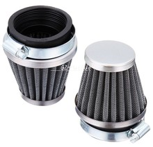 2 x 54mm Universal Tapered Chrome Pod Air Filter For Honda Kawasaki Yamaha Suzuki(China)