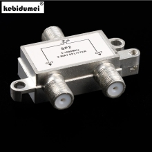 2 Way TV satallite 5-1000 MHz Aerial Splitter Antenna Cable F Connector Splitter TV Switch(China)