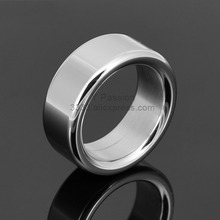 Steel Male Penis Ring Widen Delay Ejaculation Chastity Ring Adult Stimulator Male Unique Toys(China)