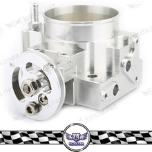 Chrome Silver Racing car Aluminum 70mm Throttle Body For K20 K20A EP3 DC5(China)