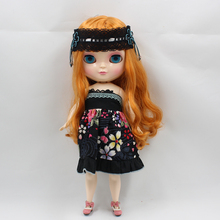 Fortune Days ICY doll Cute Plump Lady Series No.0145 Deep orange hair the same as the Blyth doll,great makeup,lower price.