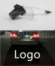 1 piece Car led License Plate Lights Laser Shadow logo Projector lamp For Honda Accord City Civic Spirior Crider Ciimo Greiz