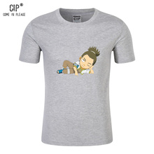 CIP 100% Cotton Naruto Tops Japan Cartoon T-shirts Costume Children's Clothing Summer Casual Children T Shirts Children's Wear(China)