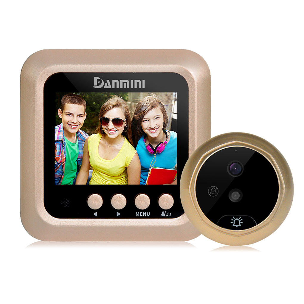 W5 2.4 Peephole Viewer Camera Door Eye No Disturb Doorbell Door Bell Security Cam 2.0MP  Detector <br>