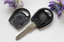 10pcs/lot Car Key Blank Shell Fit For Volkswagen Jetta Transponder Key Case + Free Shipping