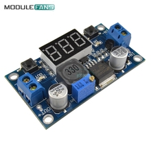 LM2596 DC-DC Buck Step-down Power Converter Module 4.0~40 to 1.3-37V LED Digital Voltmeter 2A Reverse Polarity Protection Board(China)
