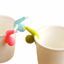 Novelty Cute Snail Shape Silicone Tea Bag Holder Candy Colors Mug Gift Jul3 Professional Factory price Drop Shipping(China)