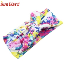 Hair clips for women hotselling Hairband Unisex Print Knot Crow Cute Headband hotselling Baby Hair Accessories Fashion 2017