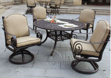 5-piece high quality cast aluminum table and chair Outdoor furniture garden furniture customize model