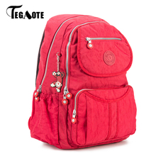 TEGAOTE School Backpack for Teenage Girl Mochila Feminina Escolar Women Backpacks Bag Nylon Casual Travevl Laptop Bagpack Female(China)