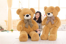 stuffed toy huge 180cm light brown teddy bear plush toy bowtie bear soft doll sleeping pillow,Christmas gift b1407