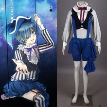 Athemis Overalls Outfits Black Butler Circus Ciel Phantomhive Cosplay Costumes Unique Design Jumpsuits with Hat(China)