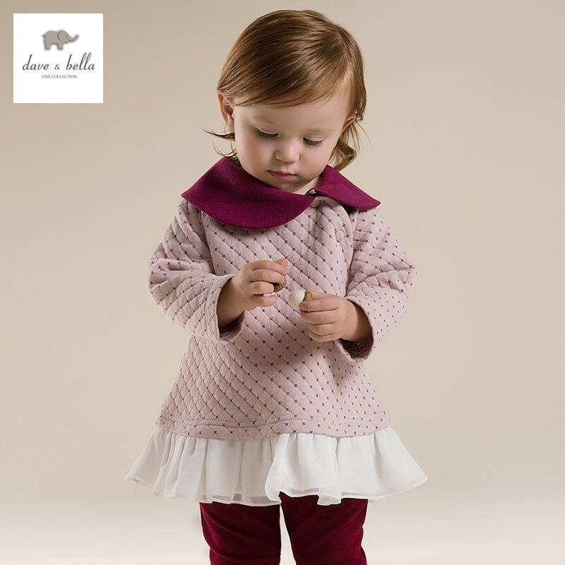 DB2841 dave bella  autumn baby girl cute dress toddler dress baby clothes infant dress girls pink dress<br><br>Aliexpress