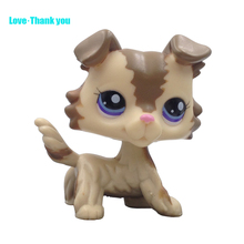Cute LPS figure kids Collection toy dog COLLIE #2110 Children's gifts