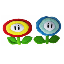 "New Super Mario Brothers Plush Fire Ice Blue Flower 7"" Soft Plush Figure Doll Toy Free Shipping(China)"