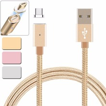 2.4A Automatic Adsorption Micro USB Magnetic Charger Magnetic Cable Android Mobile Phone Charging Magnet Micro USB Cable