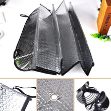 30 x 60cm Aluminum Foil Car Sunshade Foldable Two-sided Solar protection Auto Front Rear Windshield Summer Parking Car Sunshade