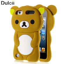 Cover for iPod Touch 5 Cases Silicone Cases Rilakkuma Bear Silicone Protective Case for iPod Touch 6 / Touch 5