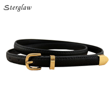 13 colors fashion female thin belt 2017 design high quality Strap women leather trouser children's Belts ladies On dresses F111