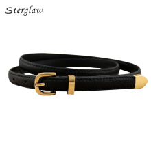 13 colors fashion female thin belt 2017 design high quality Strap women leather trouser children's Belts ladies On dresses F111(China)