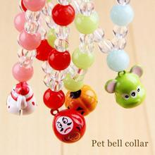 Dog bell Collar neck necklace strap Pet products Color Bell Flower Cloisonne Hollow Pet Dog Bell A45(China)