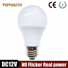 New E27 Led Bulb 12V LED Lamp 3W 6W 9W 12W 15W DC12 Volts Lampada Led E27 Home Solar Motor Home Bulb DC12V Cold White(China)