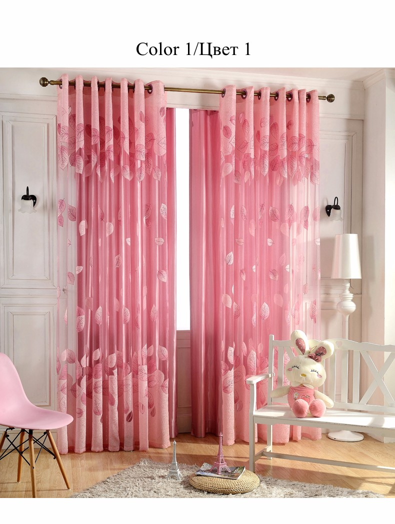 European Royal Curtains 11 Colors Embroidered Voile Curtains for Living Room Drapes Crystal Beaded Curtains Sheer (43)