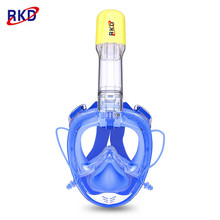 2017 New 2nd Generation RKD Diving Mask Underwater Scuba Anti Fog Full Face Diving Mask Snorkeling Set with Anti-skid Ring Snork(China)