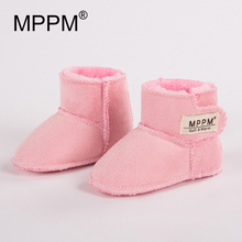 MPPM Winter Baby Boots Infant First Walker Soft Sole GirlsBaby Booties Boy Baby Boots(China)