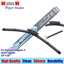 "Wiper blades for Renault megane II (2007-2010) 24""+18"" Rubber fit bayonet type Car windshield wiper arms only LS550(China)"