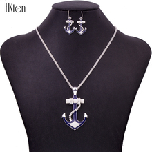 MS1504432Fashion Jewelry Sets High Quality Necklace Sets For Women Jewelry Silver Plated Antique Unique Anchor Design Party Gift