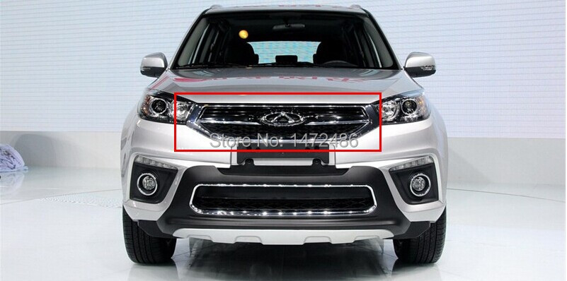 ABS Chrome Front Grille Around Trim Racing Grills Trim for 2014 Chery Tiggo 3<br><br>Aliexpress