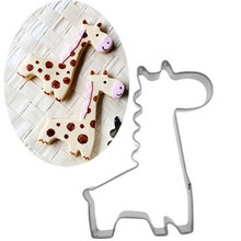 if dream peach Metal Stainless Steel Giraffe Cookie Cutter Animal Baking Tools Bread Mold DIY Form For Baking Kitchen Bakeware