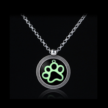 Charms Necklace Dog Paw Print Glass Dome Metal Ginger 32mm Snap Button Jewelry Accessories(China)