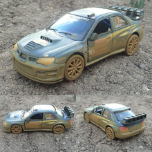 1/36 Scale Brand New Car Model Toys Muddy Edition Subaru Impreza WRC 2007 Racing Car Diecast Metal Pull Back Car Model Toys